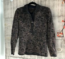 blue willi's Brown And Black Floral Print sweater