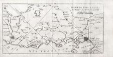 VIAGGIO DA ROMA A NAPOLI Carta Geo - Incisione Mariano Vasi 1821 Rome Naples Map