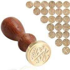 Classic Retro Wood 26 letter A-Z Alphabet Initial Sealing Wax Seal Stamp Post