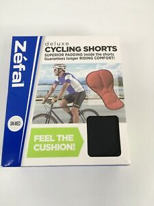 ZEFAL Deluxe Mens Black Padded Cycling Shorts  Tag Size S/M 28-32 (New)