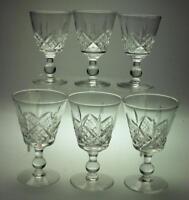 Set of 6 Port Wine Glasses Glengarry Cambridge Design by Stuart Branded TB33