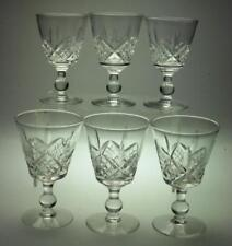 Set of 6 Port Wine Glasses Glengarry Cambridge Design by Stuart Branded TB33