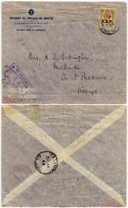 WW2 SOMALIA EAF OVERPRINT 5d CAPTURED ITALY PRINTED OFFICIAL ENV APO 74 to KENYA