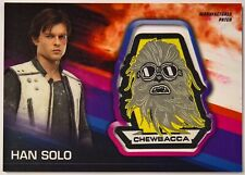 2018 Topps Solo: A Star Wars Story Patch Card Han with Chewbacca Patch Mp-Hsc