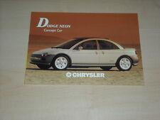 51588) Dodge Chrysler Neon concept Prospekt 199?