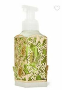 BUTTERFLY GENTLE HAND SOAP SLEEVE HOLDER BATH BODY WORKS  GOLD / GREEN MARBLE