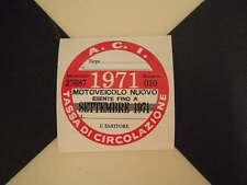 Disque fiscale italienne 1971-FIAT 500 600 126 Lancia Giulietta Beta ALFA GTV ABARTH