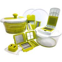 Mega Chef 10-Piece Salad Spinning Slicer, Dicer and Chopper Set
