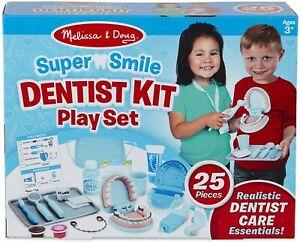 Melissa & Doug Super Smile Dentist Play Set 25 Pieces Dental Accessories + Teeth