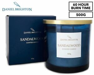 Daniel Brighton Sandalwood Scented Soy Candle 500g NEW FREE SHIPPING