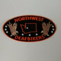 NorthWest Deaf Bikers Motorcycle Jacket Patch - Deaf Bikers
