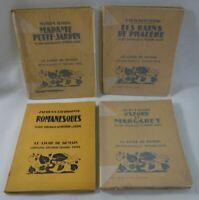 4 livres illustrés par MORIN-JEAN - Le LIVRE DE DEMAIN Fayard Bois originaux
