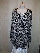 Long Sleeve Soft Blouses size plus 2X,0X,APT.9 Black plaid and Pine Green Plaid