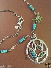 """Silpada Sterling Silver Howlite, Turquoise, Seed Beads 25"""" Long Necklace N2193"""
