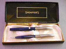 Sheaffer Blue Dolphin Nib Fountain Pen Set---working-fine point
