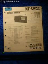 Sony Service Manual ICF SW33 Pll Synthesized Receiver (#2720)