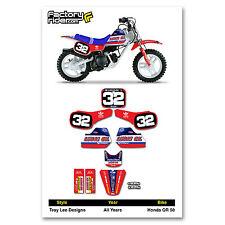 HONDA QR 50  QR50 TLD Dirt Bike Graphics Kit Motocross Enjoy MFG FITS ALL YEARS!