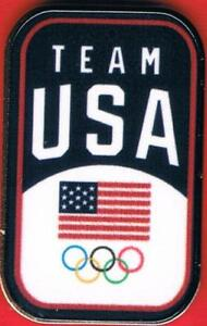 2020 Tokyo USA Olympic Team Small USA Flag with Colored Olympic Rings NOC Pin