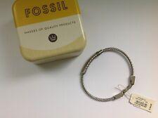 FOSSIL edles silbernes Armband Armreif UNISEX Edelstahl NEU 49€