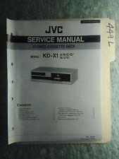 JVC kd-x1 service manual original repair book stereo tape deck player