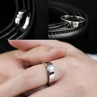 Solid Polished Titanium Steel Band Biker Men Signet Ring Silver