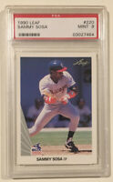 1990 Leaf SAMMY SOSA Baseball Rookie Card PSA 9 Mint Chicago White Sox Cubs