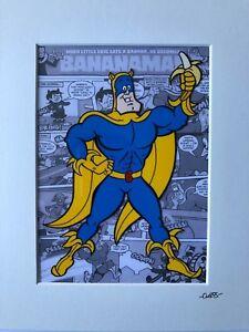 Banana Man - Hand Drawn & Hand painted Cel