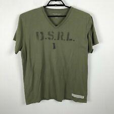e767fd9d Mens Ralph Lauren Denim & Supply T Shirt V Neck Short Sleeve Green Cotton XL