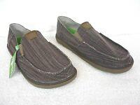 Sanuk Men's Sz 10  Vagabond Tripper Slip-On Dark Brown Sidewalk Surfer Shoes