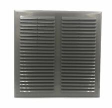 """Graphite Air Vent Grille 350mm x 350mm with Fly Screen Ventilation Cover 14"""""""