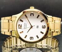 seiko quartz gold plated men's wrist watch run order