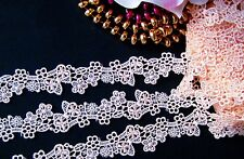 Amazing  peach  flower embroidery lace trim- ribbon - price for 1 yard