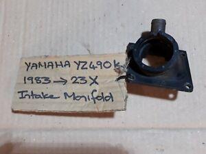 Yamaha yz490k 23X intake manifold. 1983