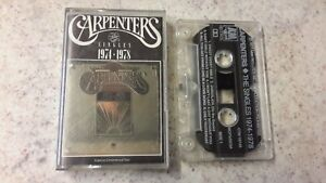 THE CARPENTERS - THE SINGLES 1974-1978 CASSETTE A&M PLAY TESTED !!