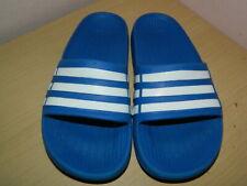 kids blue/white Adidas slip on slides sandals uk 1 eur 33