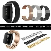 Correa de metal magnético For Huami Amazfit Bip BIT PACE Lite Youth Watch