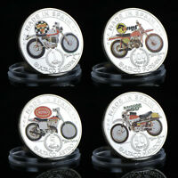 WR Bultaco Series Silver Coin Set Spain Motorcycle 1/5/50/100 Pesetas Collection