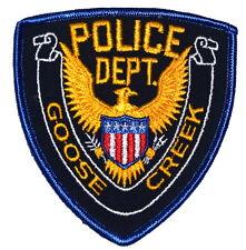 GOOSE CREEK MISSISSIPPI MS Sheriff Police Patch GOLDEN EAGLE VINTAGE OLD MESH ~