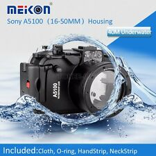 Meikon 40M Waterproof Underwater Camera Housing Case for Sony A5100 16-50mm Lens