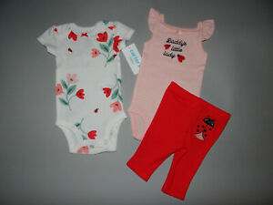 NWT, Baby girl clothes, 9 months,Carter's 3 piece set/ ~~SEE DETAILS ON SIZE~~