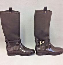 Michael Kors Women's Charm Stretch Rainboot Boots Brown Size US 10M I94