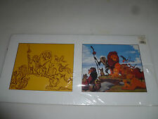 DISNEY LION KING GUARD DOUBLE CEL LIMITED CHROMALIN W PROGRAM LE ROI FRENCH LE >