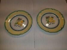 "Pair of 8.5"" Villeroy & Boch French Garden Lemon Salad Plates"