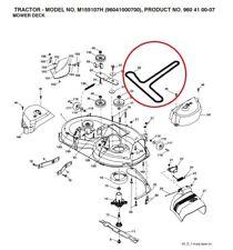 McCulloch Cutter Deck Cinghia di trasmissione realizzata con Kevlar adatta M155107H - 532 14 49-59