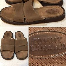 TOMMY BAHAMA Mens Brown Suede Leather Beach Flip Flop Sandals Sz 12-12.5