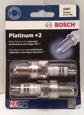Bosch 4307 Platinum +2 Spark Plugs 2 Spark Plug pack NEW
