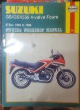 SUZUKI 1983-88 GS/GSX550 4-VALVE FOURS HAYNES MOTORCYCLE OWNERS WORKSHOP MANUAL