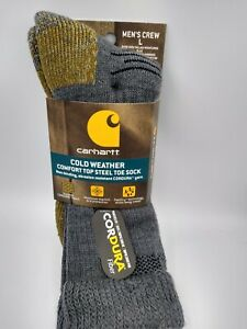 Carhartt Cold Weather Comfort Top Steel Toe Sock Large Heather Grey