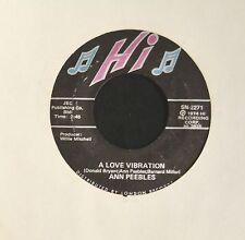Ann Peebles Hi 2271 A Love Vibration and Do I Need You
