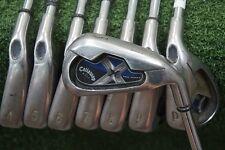 Callaway X-18 Pro Series 3-PW Iron Set Steel Stiff Flex Irons 228005 Dyn Gold
